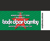 Back Door Bamby Crobar - tagged with complimentary admission