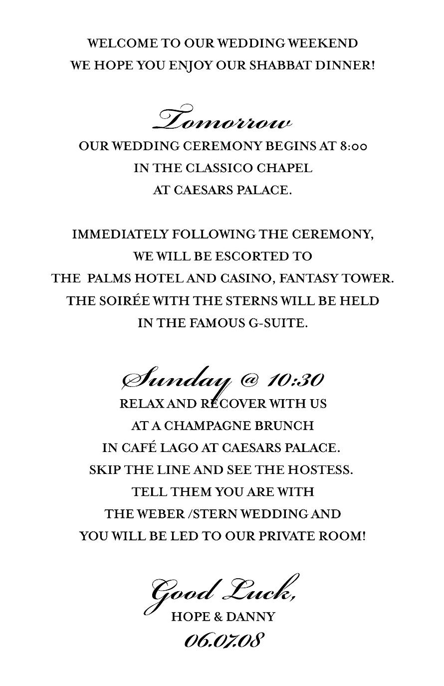 Caesars Palace Palms Hotel Wedding