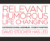 Relevant Humorous Life Changing Youth Ministries - 1500x1000 graphic design