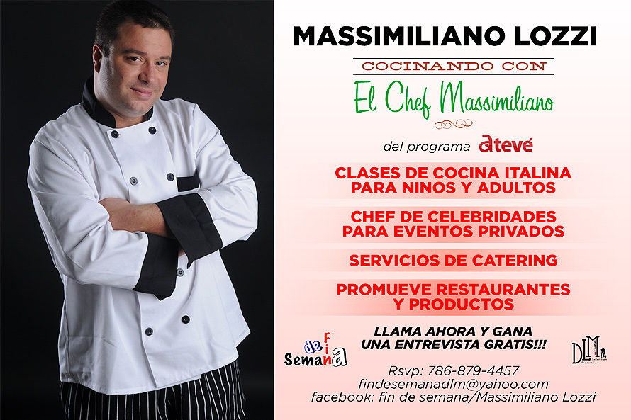 Massimiliano Lozzi TV Show for Italian Cooking