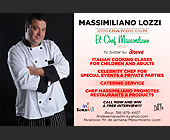 Massimiliano Lozzi TV Show for Italian Cooking - tagged with private parties