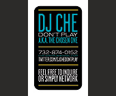 DJ Che A.K.A The Chosen One - New Jersey Graphic Designs