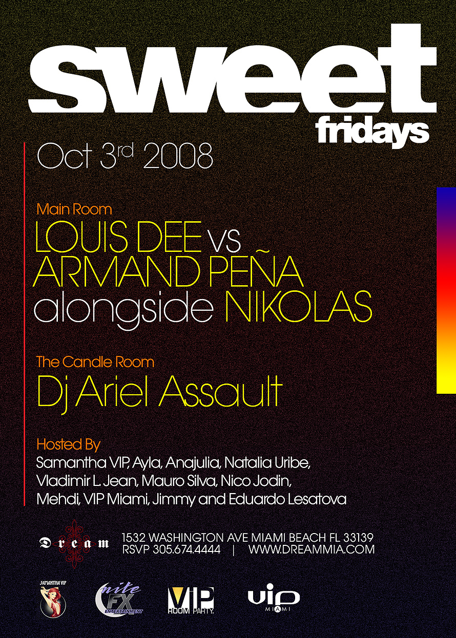 Sweet Fridays at Dream Nightclub