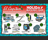 El Capitan Holiday Blowout Sale - 2700x1800 graphic design