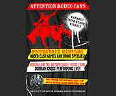 Rodeo Cash Games and Drink Specials - Electric Cowboy Graphic Designs