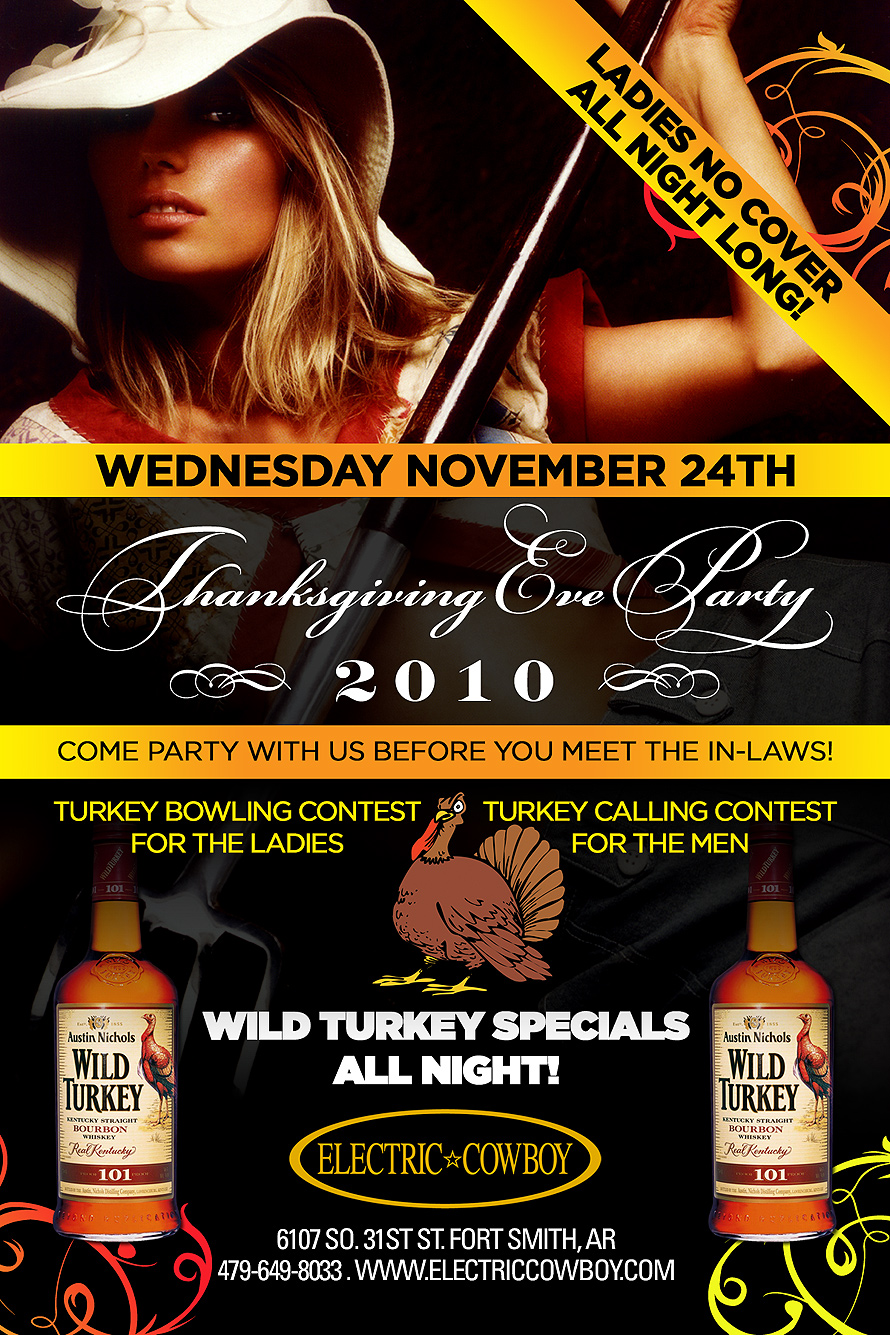 Wild Turkey Specials All Night at Electric Cowboy