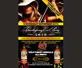 Wild Turkey Specials All Night at Electric Cowboy - Electric Cowboy Graphic Designs
