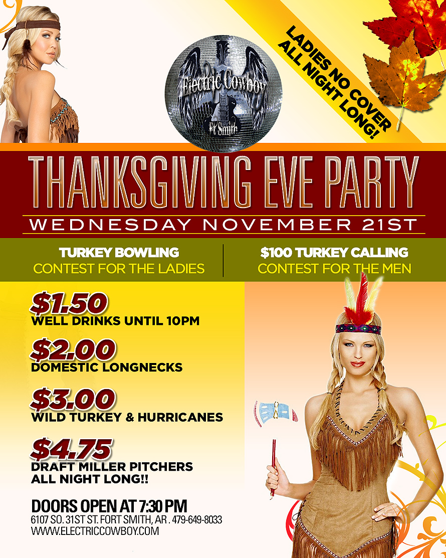 Electric Cowboy Thanksgiving Eve Party