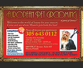 European Pet Grooming 16 Years of Success - Pets Graphic Designs