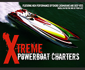 Xtreme Powerboat Charters - 11x8.5 graphic design
