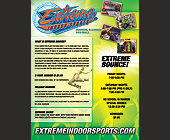 Extreme Indoor Sports - 2550x3300 graphic design