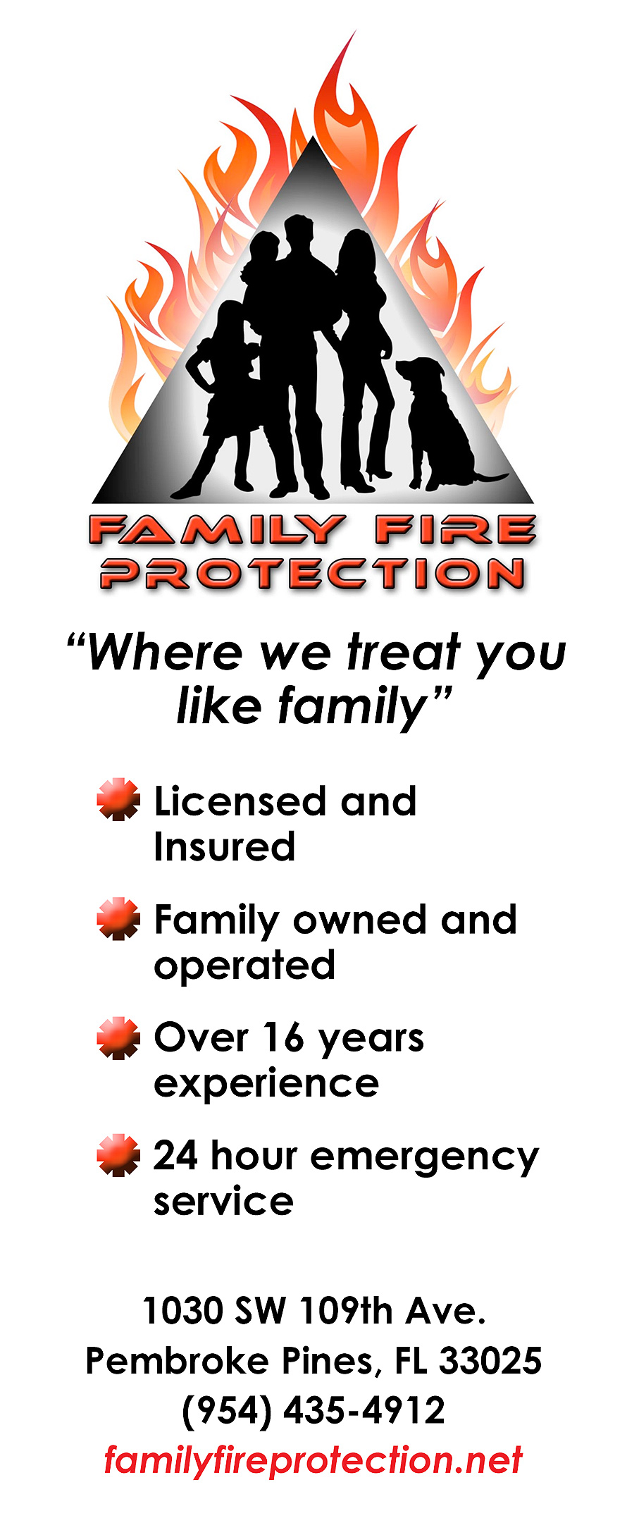 Family Fire Protection Where We Treat You Like Family