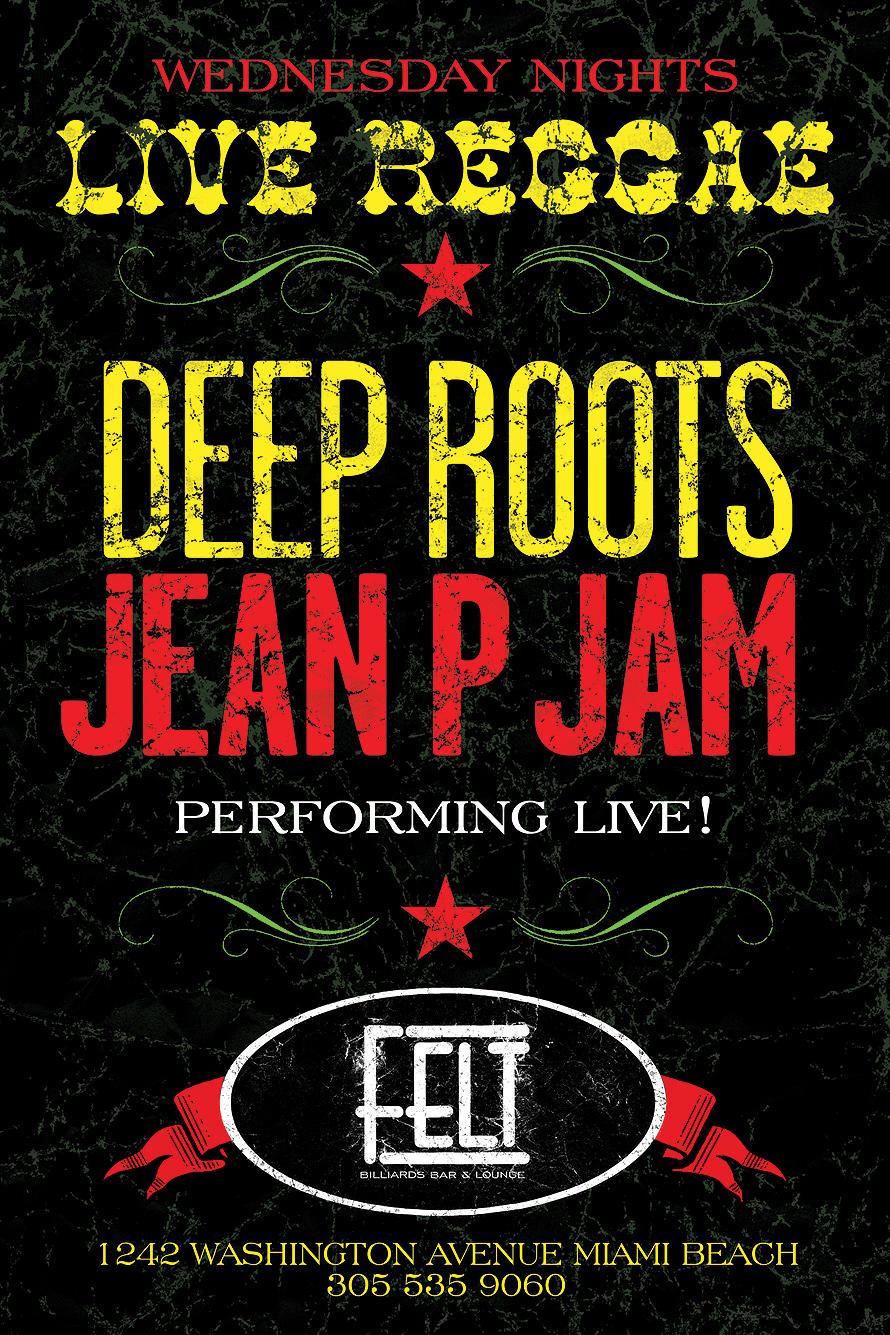 Live Reggae Wednesday at Felt