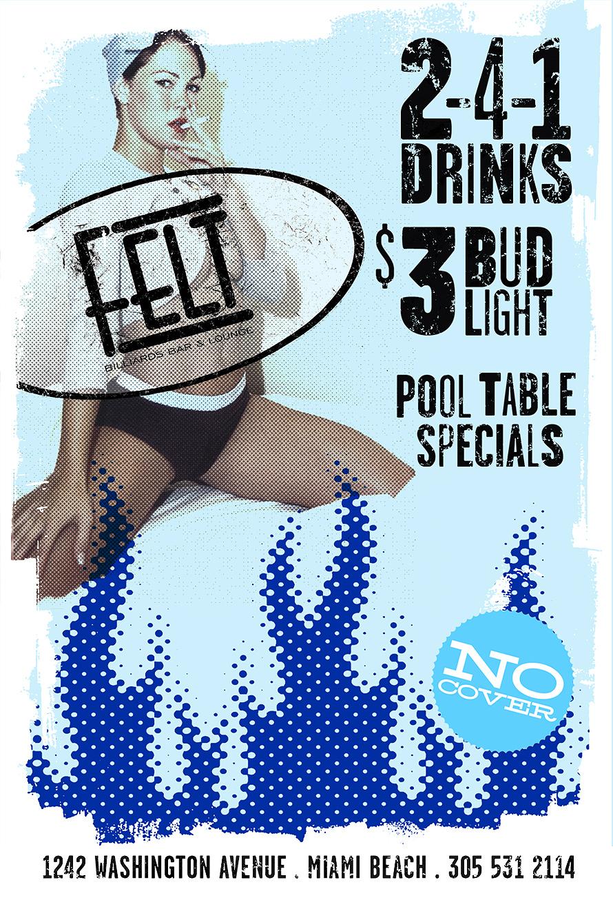 Pool Table Specials at Felt