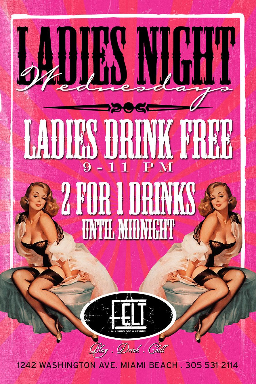 Ladies Night Wednesdays at Felt