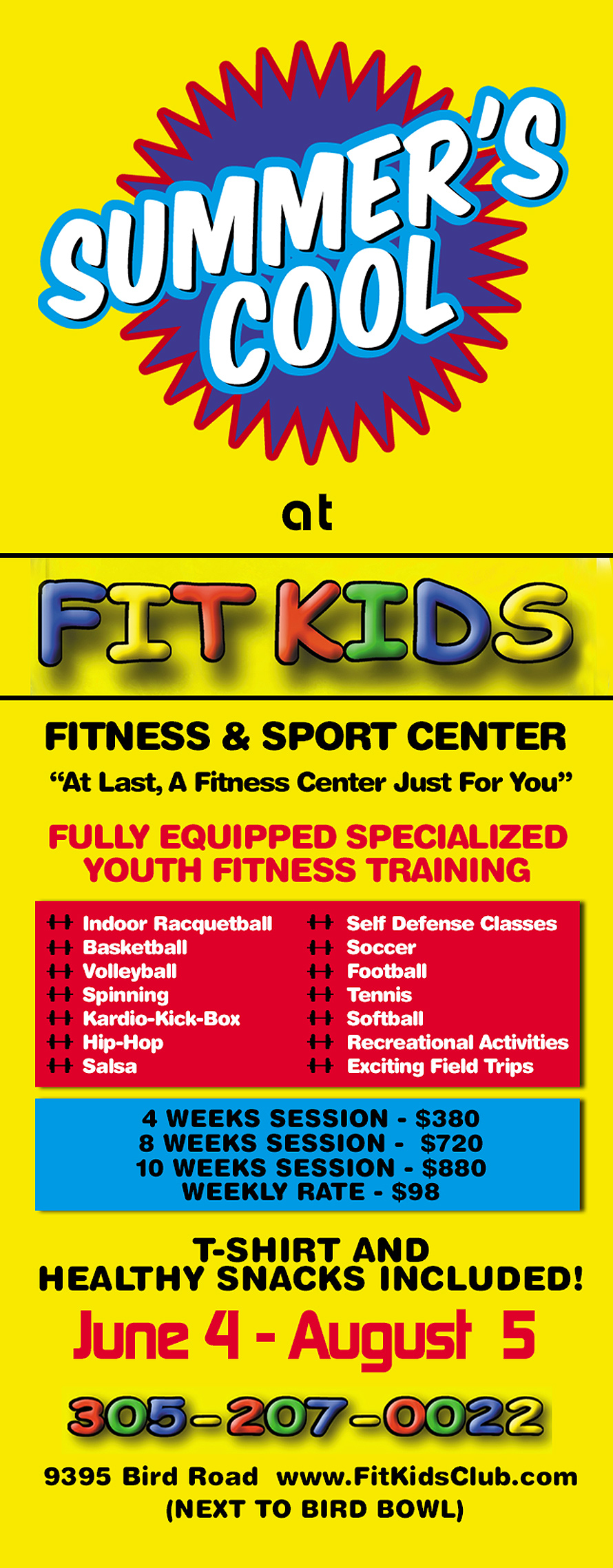 Summers Cool at Fitkids