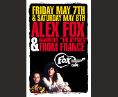 Alex Fox at Fox Cafe - tagged with guitar