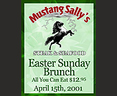 Easter Sunday Brunch at Mustang Sally's - tagged with cooper city