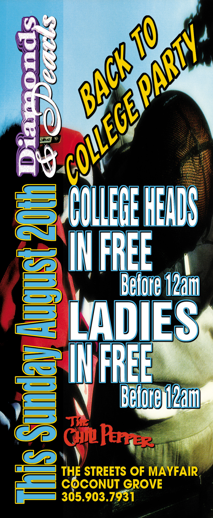 Diamonds and Pearls Back to College Party