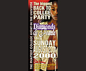 Diamonds and Pearls Back to College Party - 1050x2550 graphic design
