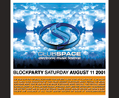 Block Party at Club Space - client Club Space