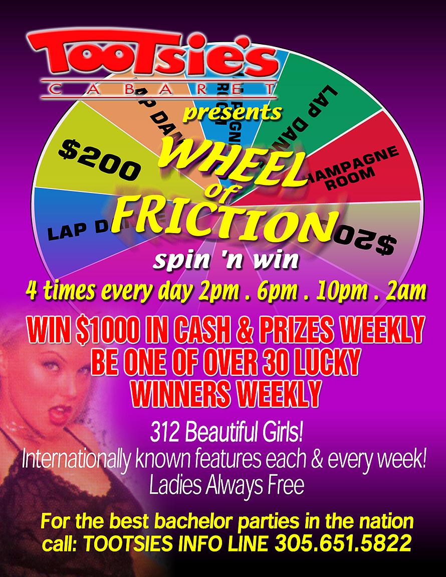 Tootsies Cabaret presents Wheel of Friction