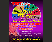 Tootsies Cabaret presents Wheel of Friction - 1131x1463 graphic design
