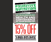 15% OFF with The Primitive Nutrition Group - Professional Services
