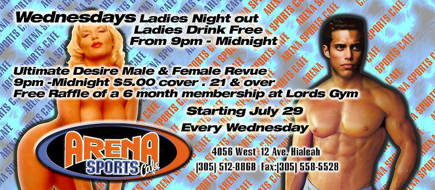 Arena Sports Cafe Miami Ladies Night