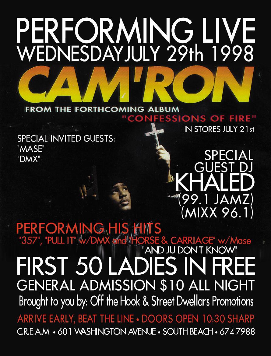 Cam'ron Performing Live at Club Cream Miami Beach