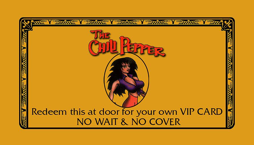 The Chili Pepper VIP Preferred Guest Card