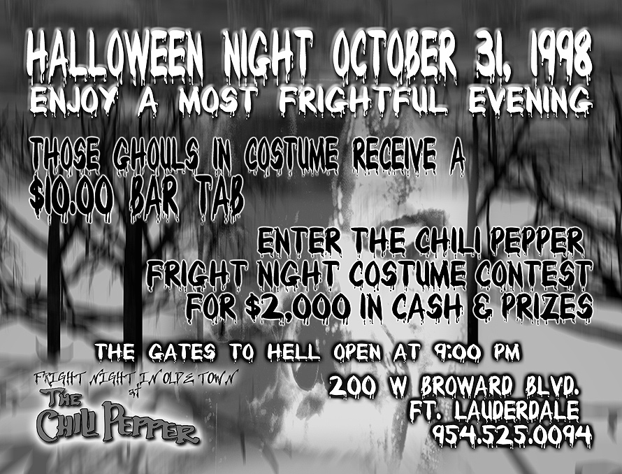 Halloween Night at The Chili Pepper Coconut Grove