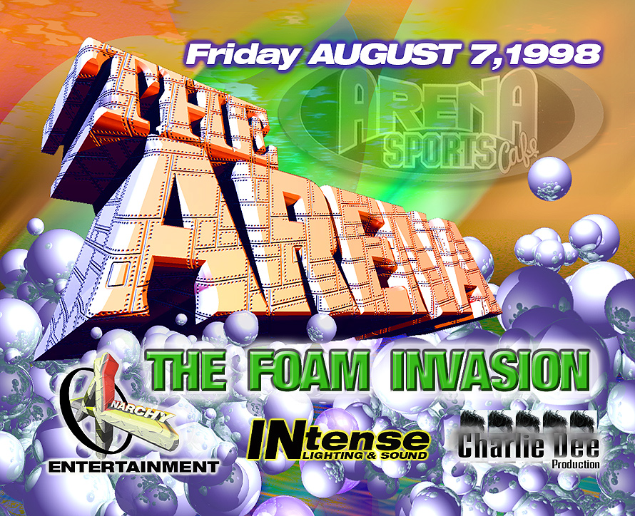 The Foam Invasion at The Arena Sports Cafe