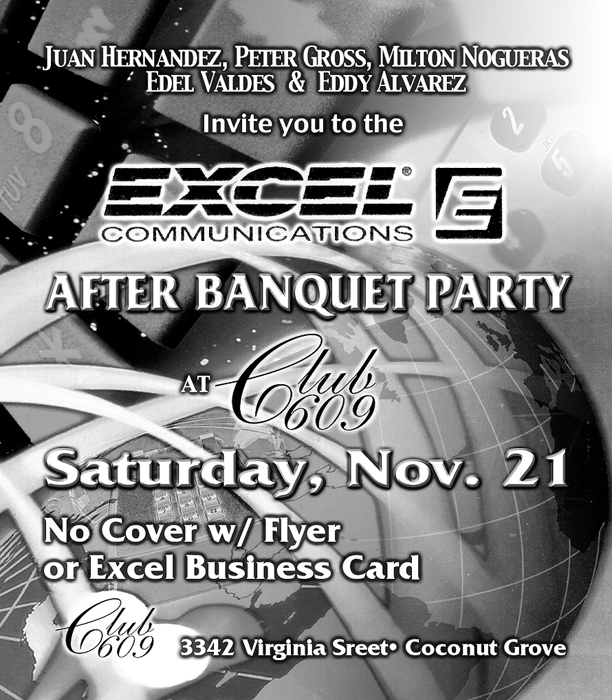 Excel Communications After Party at Club 609