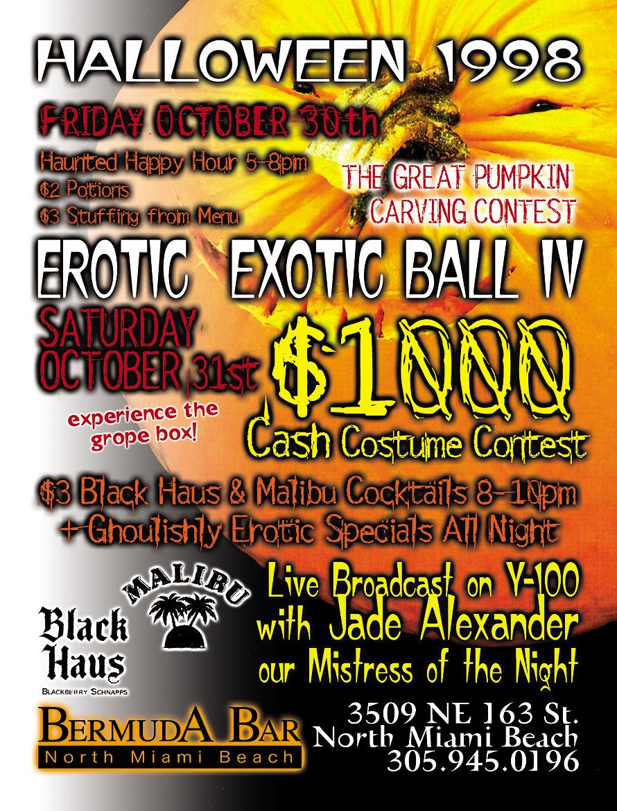 Erotic Exotic Ball IV Halloween at Bermuda Bar