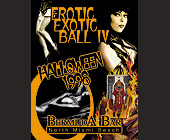 Erotic Exotic Ball IV Halloween at Bermuda Bar - 1313x1000 graphic design