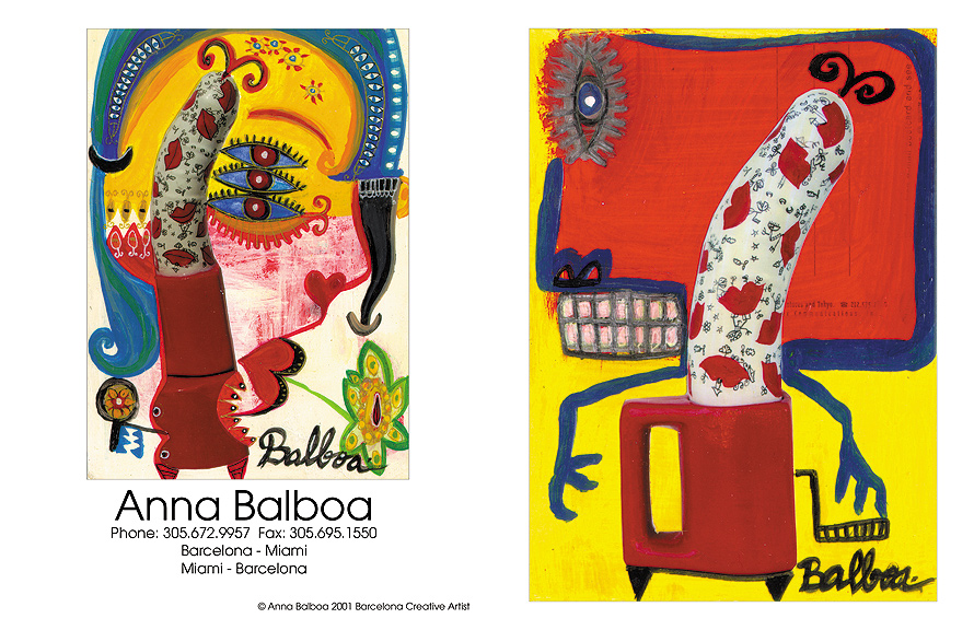 Anna Balboa Spanish Artist Postcard