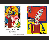 Anna Balboa Spanish Artist Postcard - tagged with abstract art