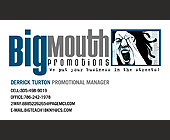 Big Mouth Promotions Promotional Manager - tagged with Information box