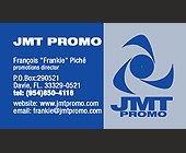 JMT Promo Business Card - tagged with contact